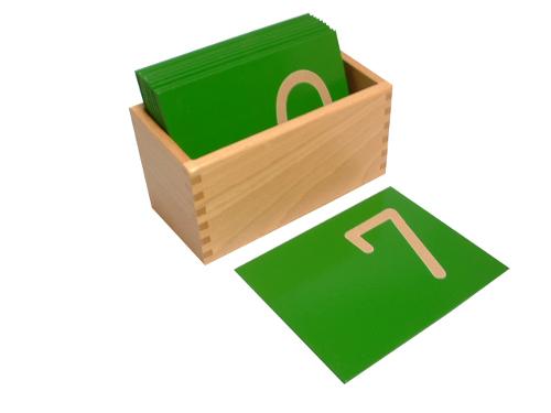 モンテッソーリ教具 - 数字の砂文字板
