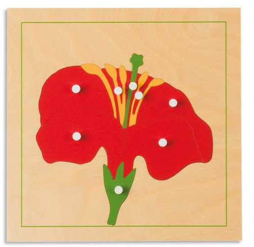 モンテッソーリ教具 - 花のパズル