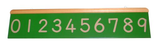 モンテッソーリ教具 - 数字の砂文字板(壁掛け)