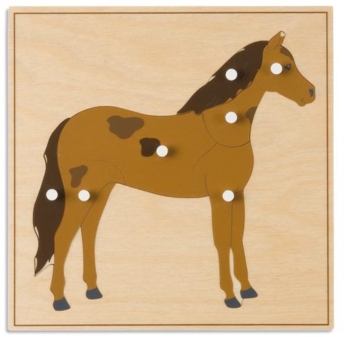 モンテッソーリ教具 - 馬のパズル