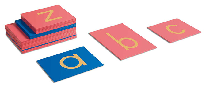 モンテッソーリ教具 - 砂文字板アルファベット小文字
