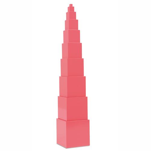 モンテッソーリ教具-ピンクタワー