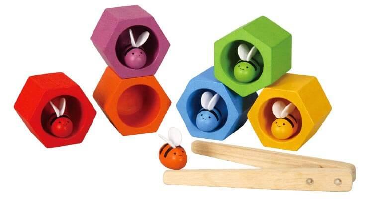 【箸の練習にもつながります】ビーハイブ|プラントイ|木のおもちゃ・知育玩具