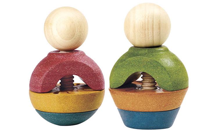 ナットアンドボルトII〈ねじのおもちゃ〉PLANTOYS|木のおもちゃ・知育玩具