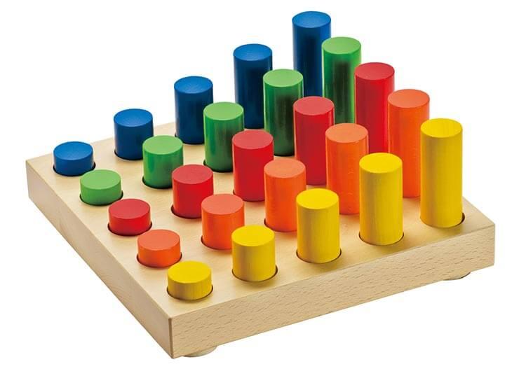 2歳向け知育玩具:ジャンボなペグ立て・円柱