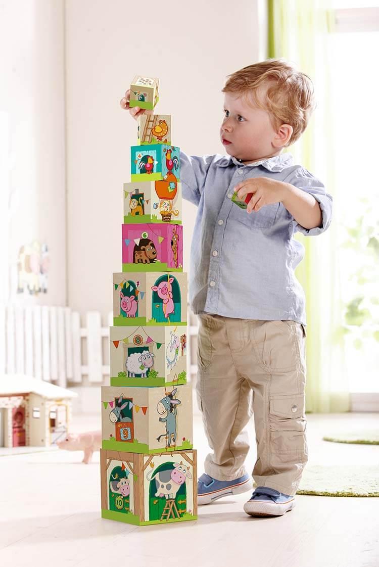1歳のおもちゃ スタックキューブ