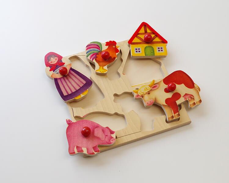 グライフパズル・農場〈木製はめこみ図形〉SELECTA