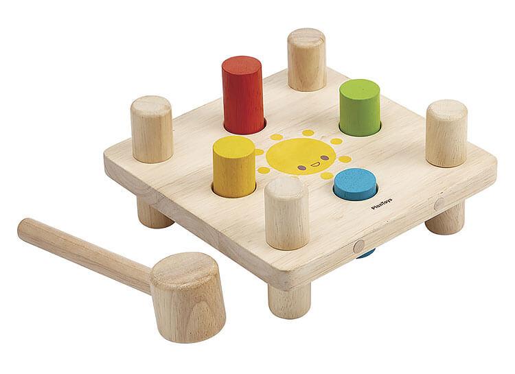 2歳向け知育玩具:ハンマーペグ