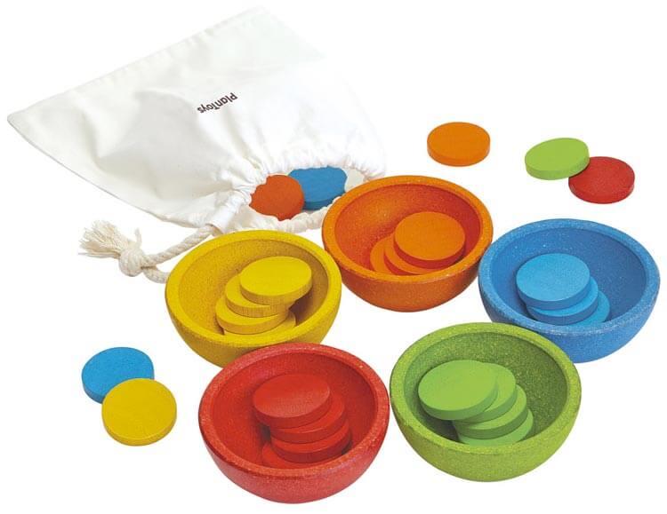 2歳向け知育玩具:ソート&カウントカップ