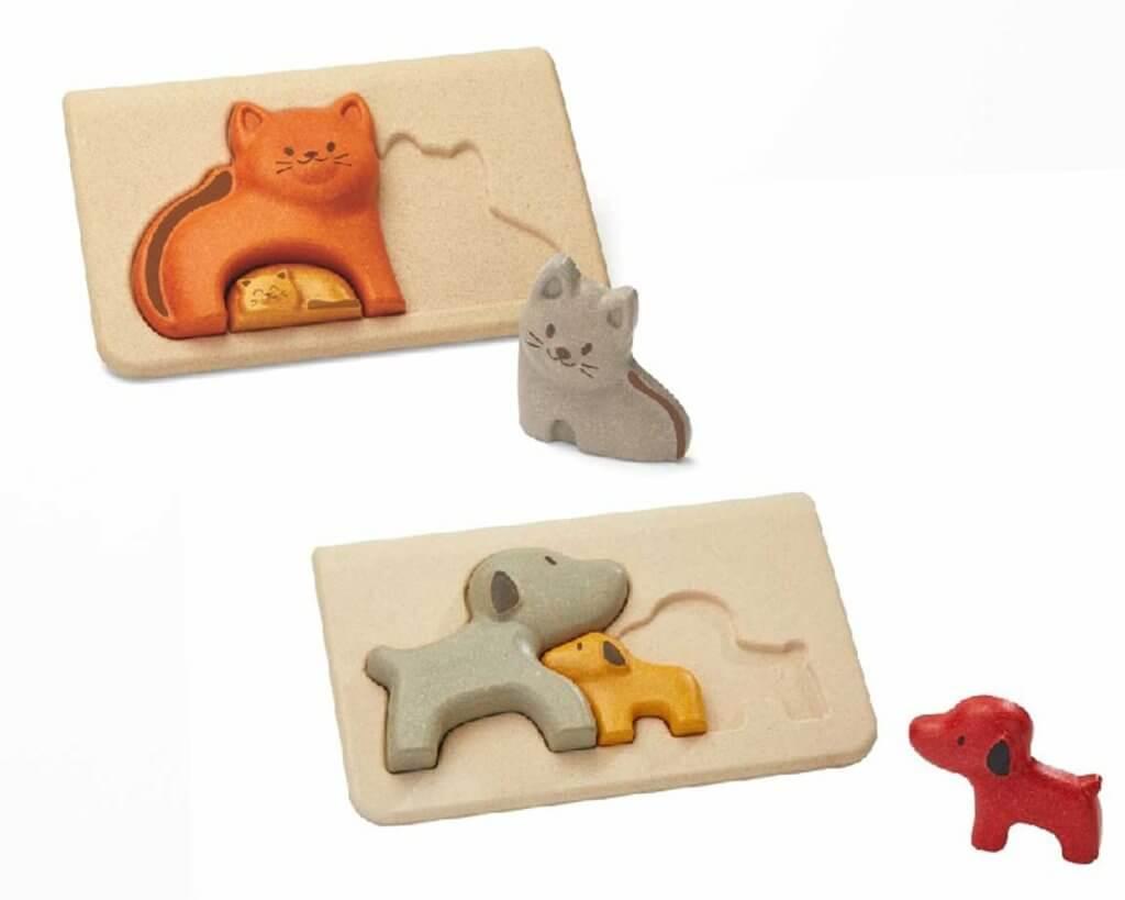 イヌとネコのパズル|2歳のパズル