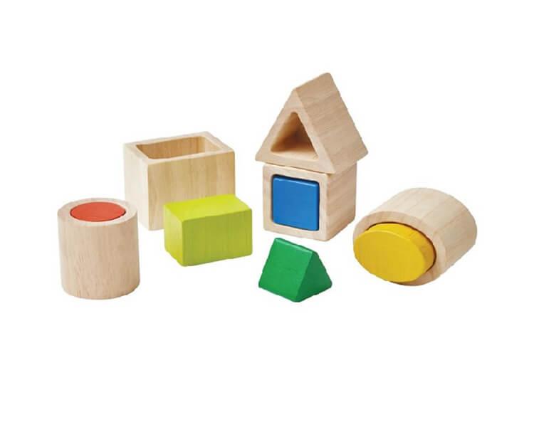ジオマッチングブロック|2歳パズル|入れ子パズル