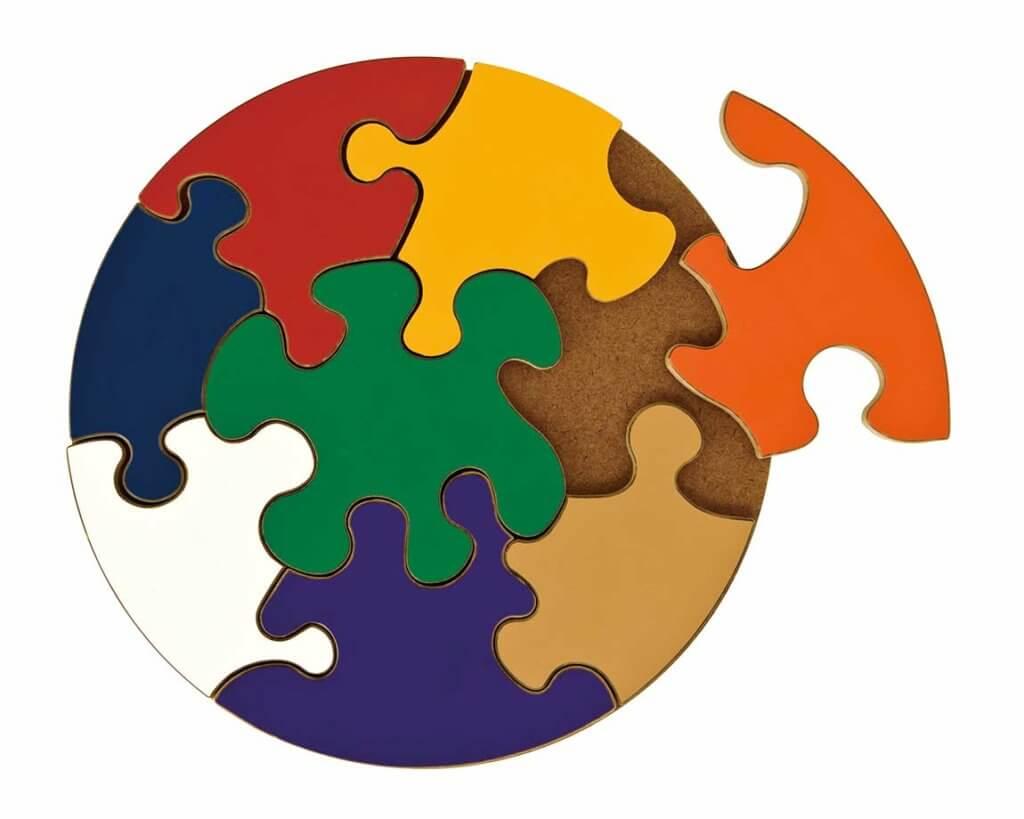 ジャイアントサークルパズル|3歳のパズル