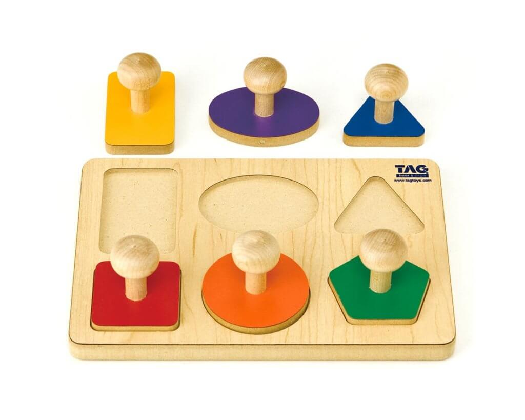 握りやすい取っ手のついた形パズル|TAG