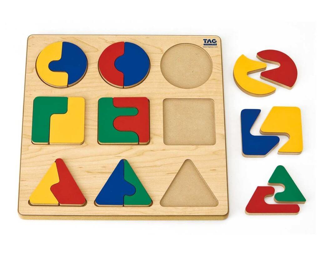 複雑な分割関係を学ぶパズル|3歳のパズル