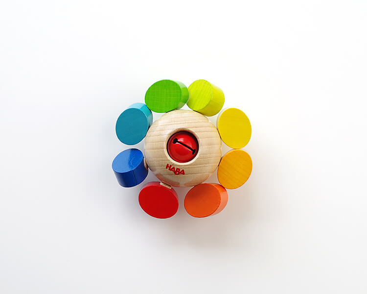 赤ちゃんのガラガラ|ラトル・カラーフラワー