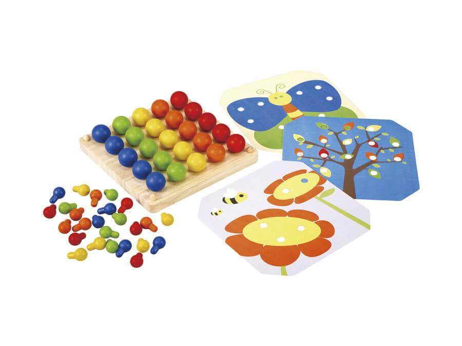 クリエイティブペグボード〈ペグさし・木のおもちゃ〉PLANTOYS|木のおもちゃ・知育玩具