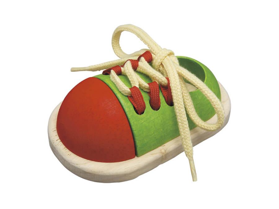 タイアップシューズ〈ちょうちょ結びの練習〉PLANTOYS|木のおもちゃ・知育玩具