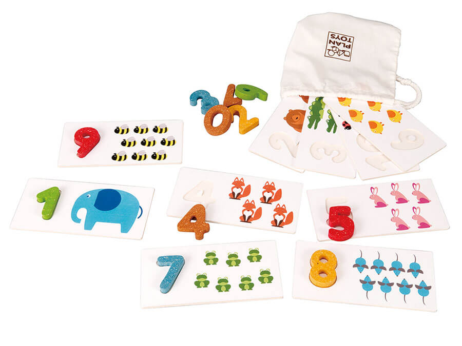 [3歳-]ナンバー 1-10 〈数の理解〉PLANTOYS|木のおもちゃ