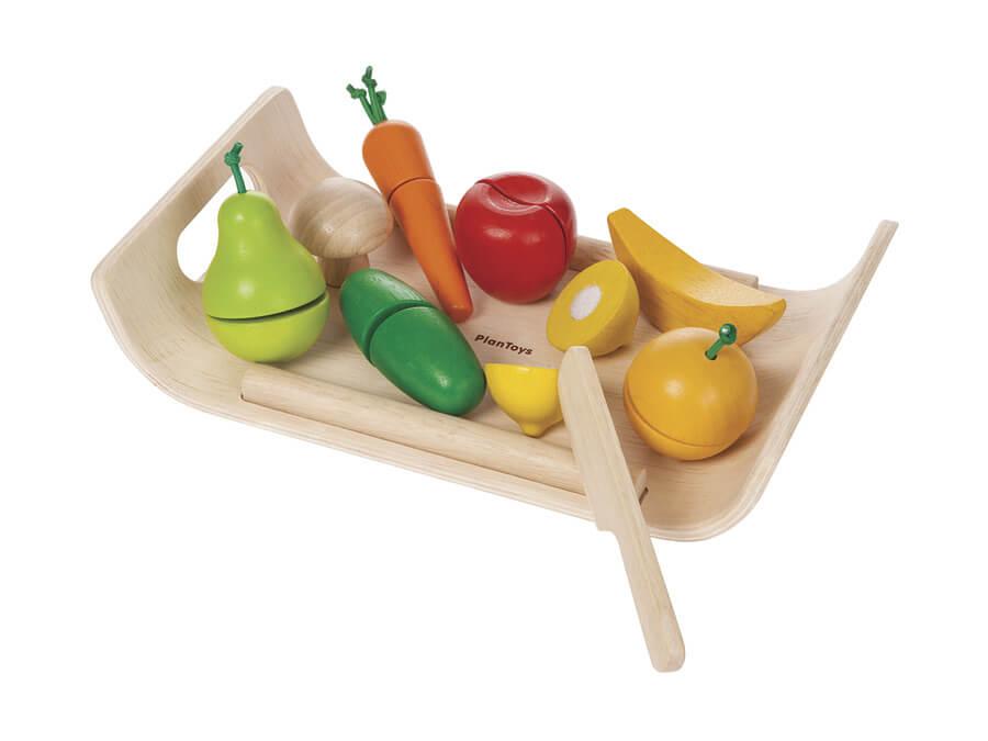 詰め合わせフルーツ&ベジタブル〈おままごと・ごっこ遊び〉PLANTOYS|木のおもちゃ・知育玩具