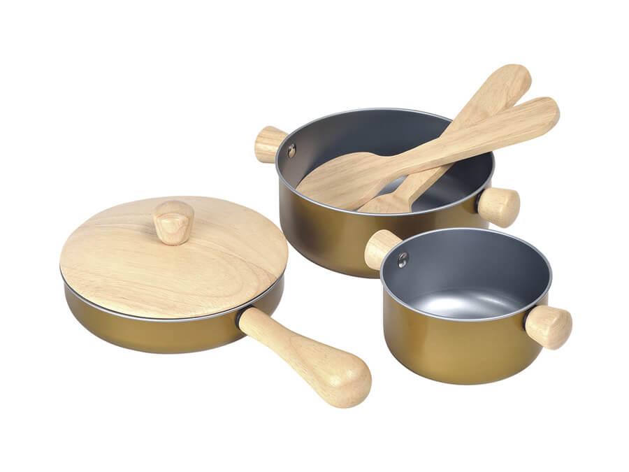調理用具セット〈おままごと・ごっこ遊び〉PLANTOYS|木のおもちゃ・知育玩具