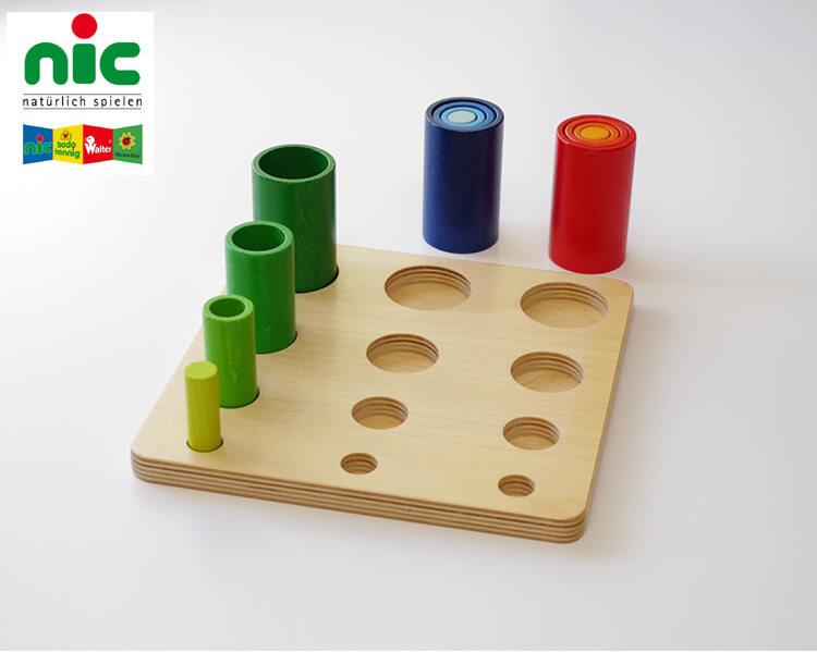 WALTERイン&オン〈ペグさし・木のおもちゃ〉NIC|木のおもちゃ・知育玩具