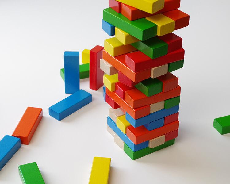 バランスタワー〈バランスゲーム〉ANTON SCHIMMER|木のおもちゃ・知育玩具