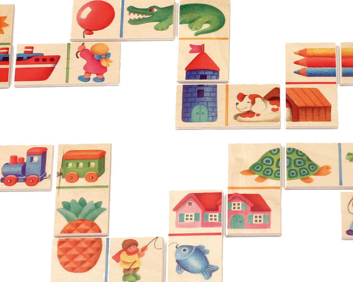 くみあわせドミノ〈絵合わせゲーム〉SELECTA|木のおもちゃ・知育玩具