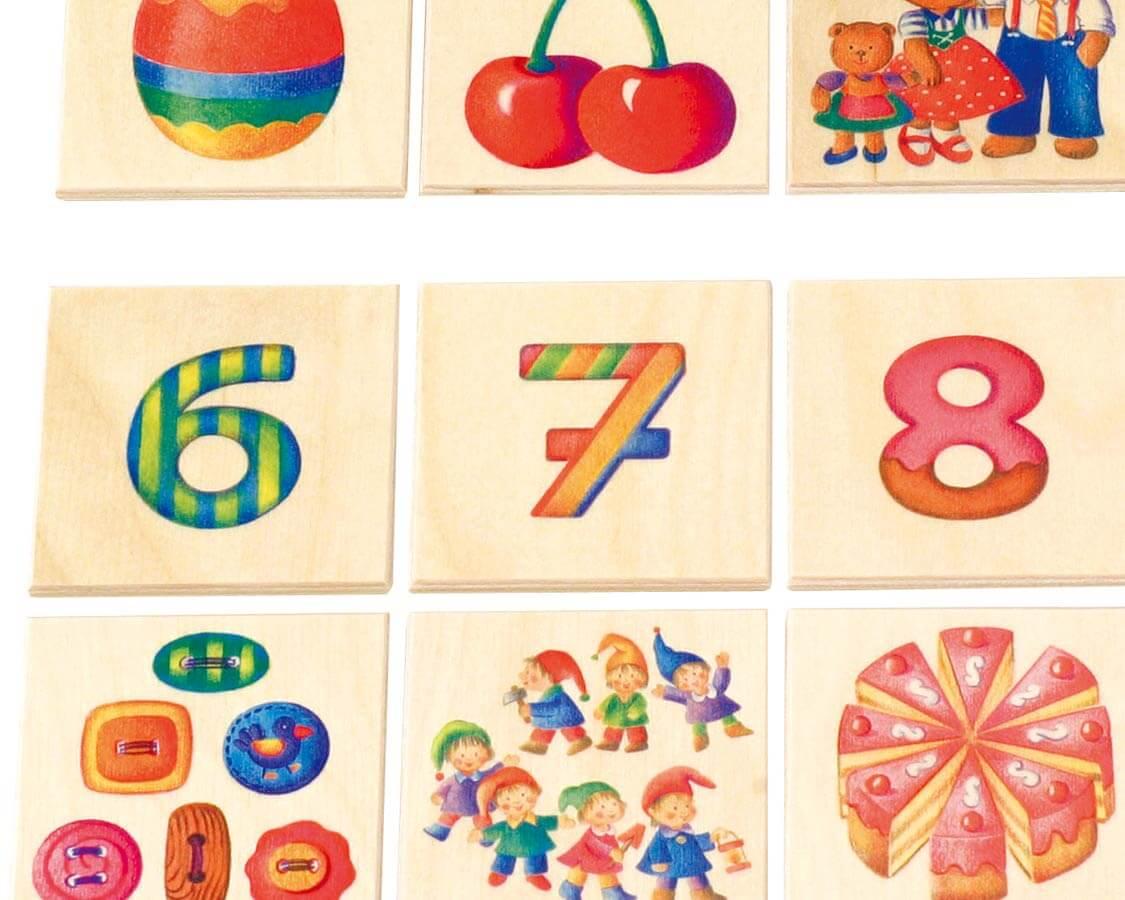 数のゲーム〈絵合わせゲーム〉SELECTA|木のおもちゃ・知育玩具