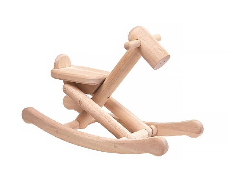 折りたたみ式ロッキングホース〈体のバランスをとる〉PLANTOYS|木のおもちゃ・知育玩具