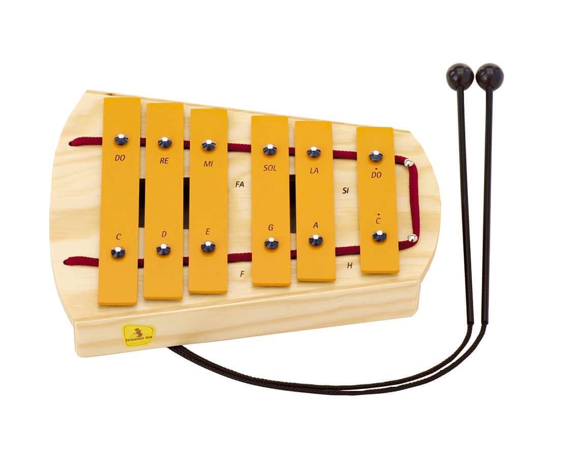 ペンタグロッケン〈鉄琴〉STUDIO49|木のおもちゃ・知育玩具