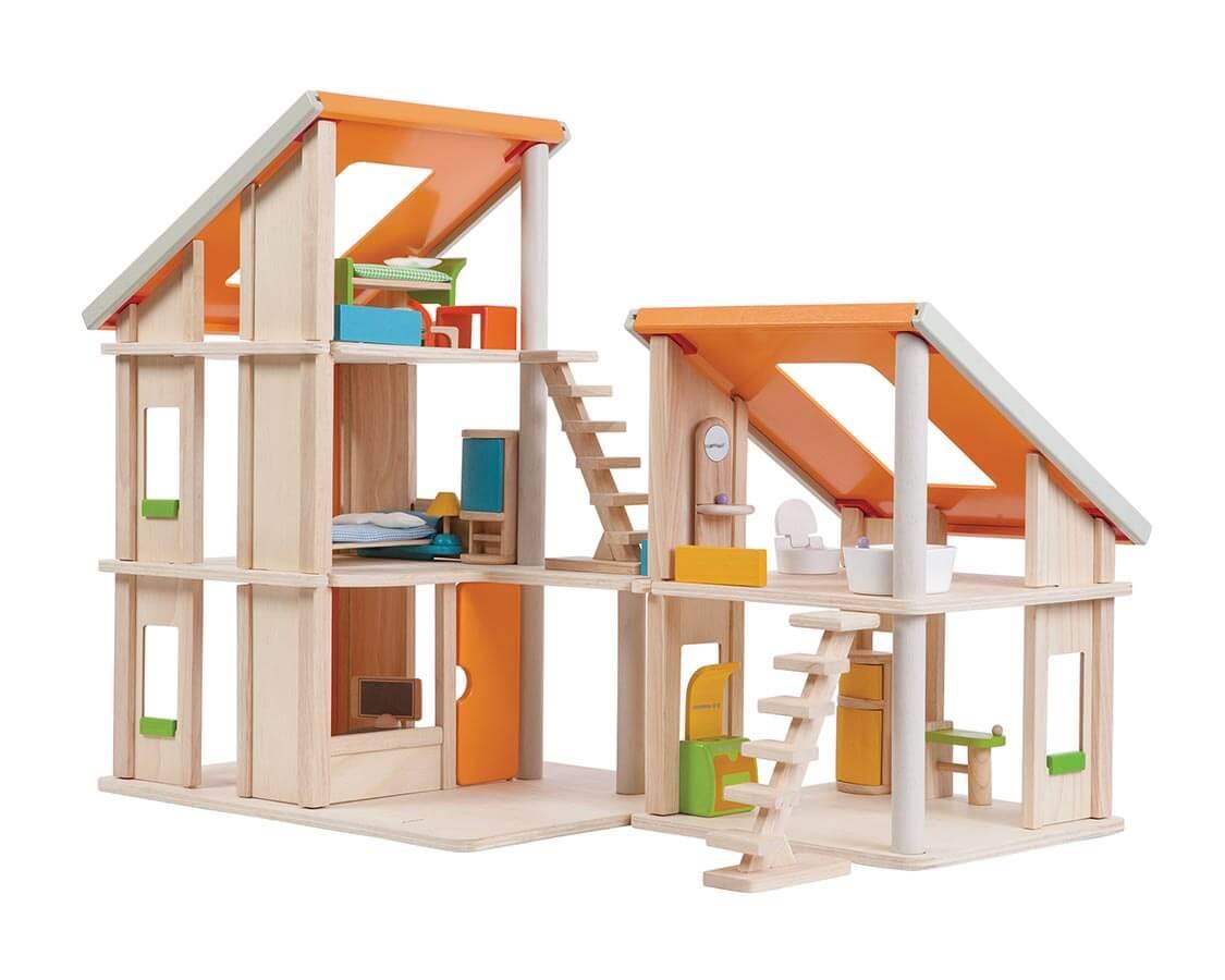 クリエイティブ プレイハウス〈ドールハウス〉PLANTOYS|木のおもちゃ・知育玩具