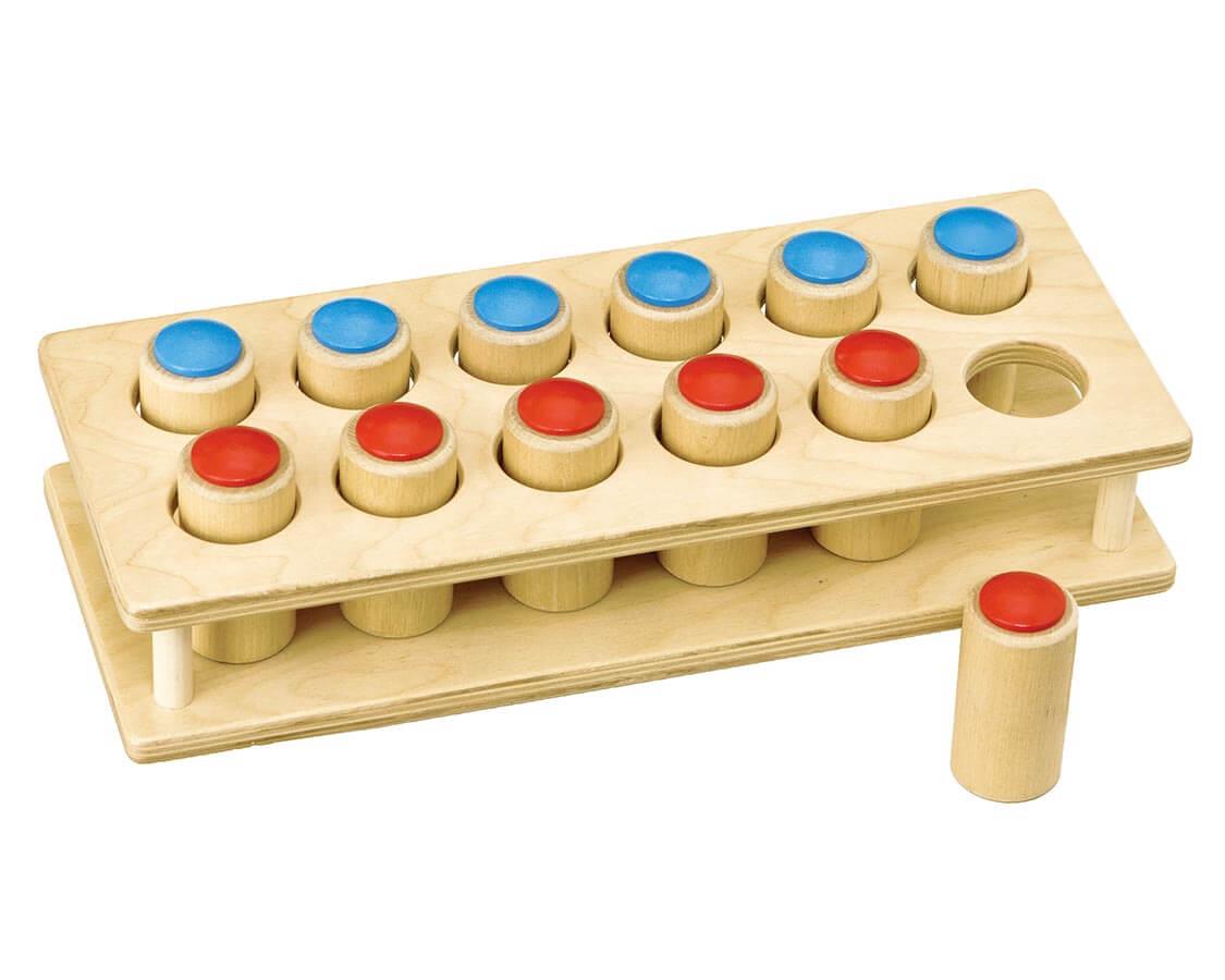 手の操作から判断する音の筒 TAG|木のおもちゃ・知育玩具