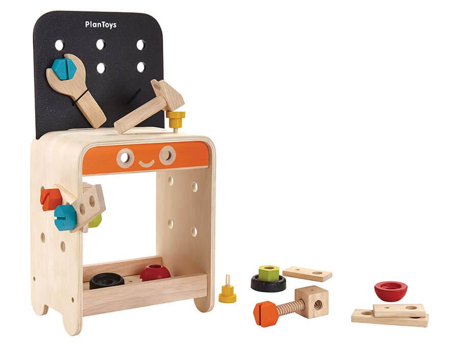 木のワークベンチ〈組み立てるおもちゃ〉PLANTOYS